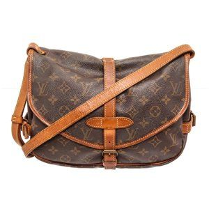 Louis Vuitton Canvas Leather Saumur Messenger Bag